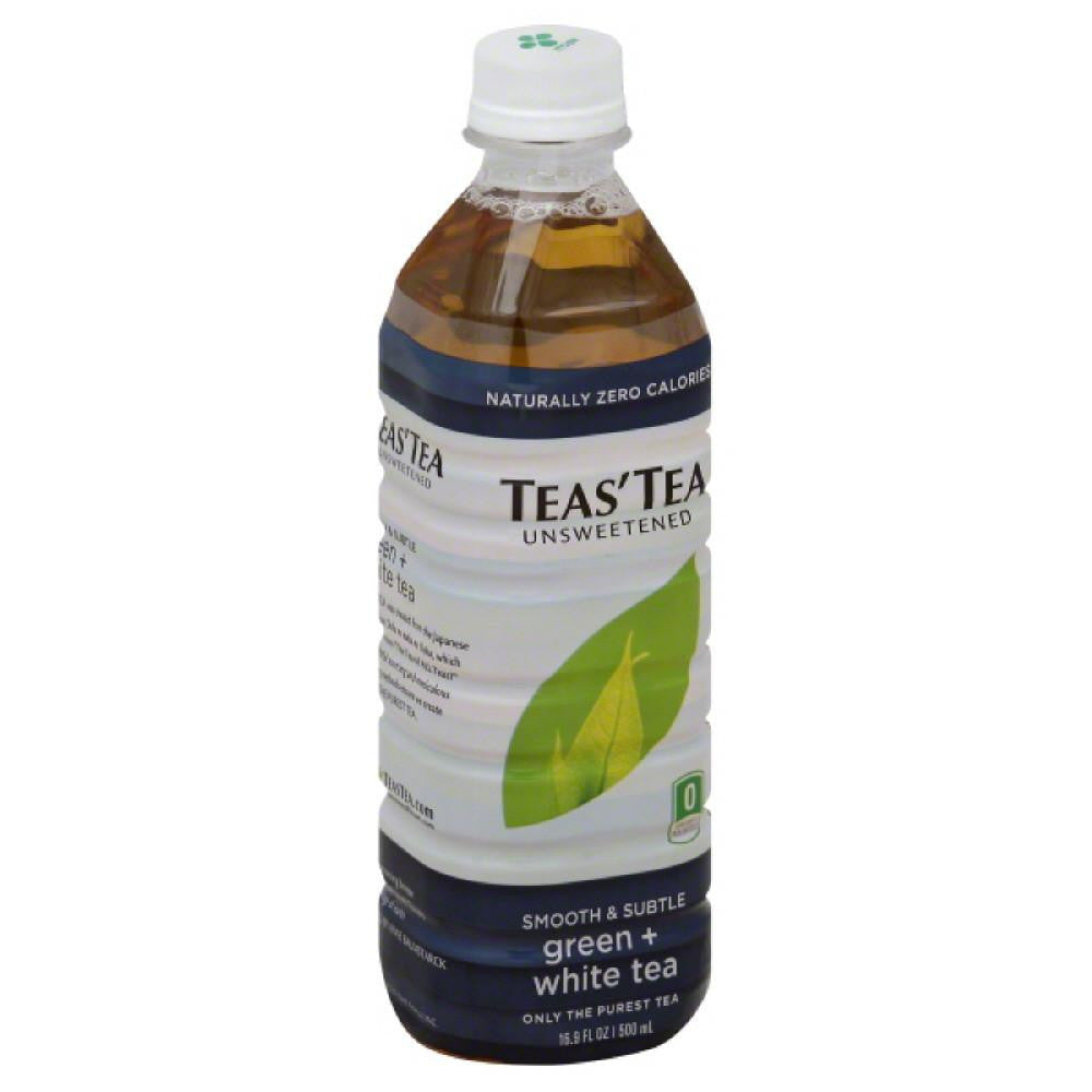 Teas Tea Unsweetened Smooth & Subtle Green + White Tea, 16.9 Fo (Pack of 12)