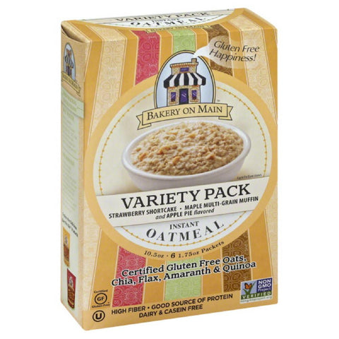 Bakery On Main Variety Pack Instant Oatmeal, 10.5 Oz (Pack of 6)
