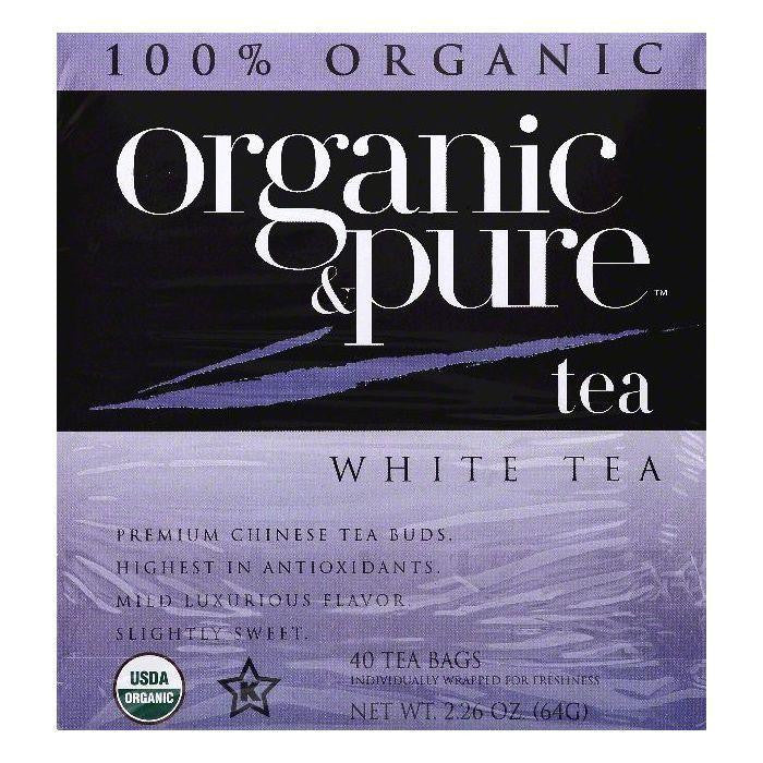 Organic & Pure Bags Organic White Tea, 40 ea (Pack of 6)