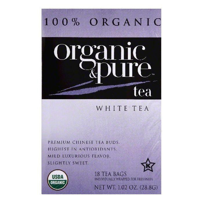 Organic & Pure Bags Organic White Tea, 18 ea (Pack of 6)