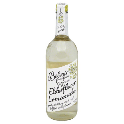 Belvoir Fruit Farms Elderflower Organic Lemonade, 25.4 Oz (Pack of 12)
