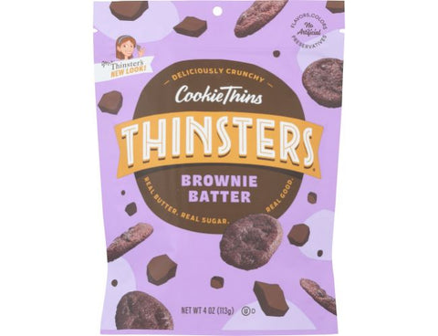 Mrs Thinsters Brownie Batter Cookie Thins, 4 OZ (Pack of 12)