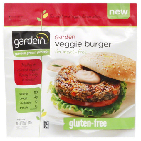 Gardein Garden Veggie Burger, 12 Oz (Pack of 8)