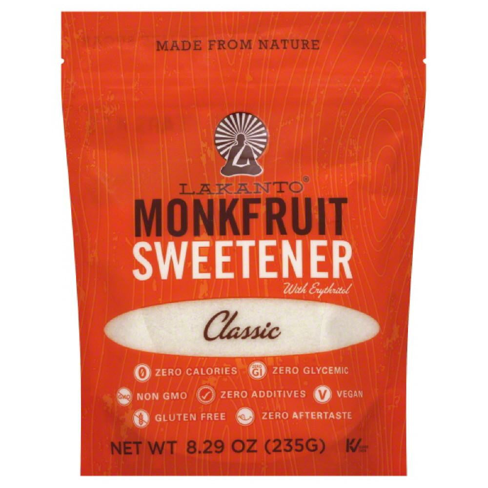 Lakanto Classic Monkfruit Sweetener, 8.29 Oz (Pack of 8)