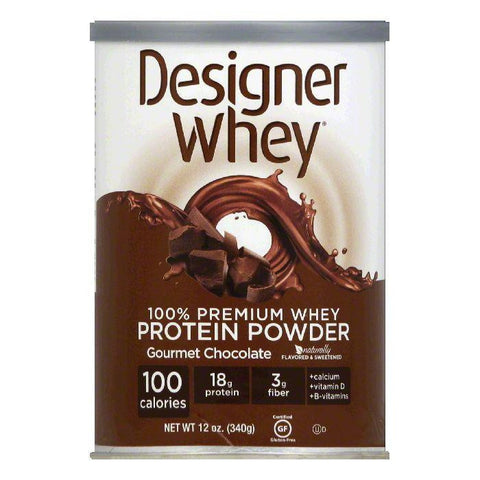 Designer Whey Gourmet Chocolate 100% Premium Whey Protein Powder, 12 Oz