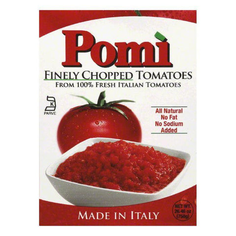 Pomi Finely Chopped Tomatoes, 26.46 Oz (Pack of 12)