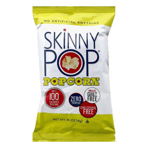 Skinny Pop Gluten Free Ready to Eat Popcorn 100-calorie pack, 0.65 OZ (Pack of 30)