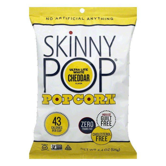 Skinny Pop Popcorn White Cheddar Light, 4.4 OZ (Pack of 12)