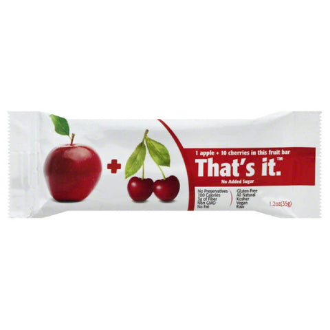 Thats It Apple & Cherry Fruit Bar, 1.2 Oz (Pack of 12)
