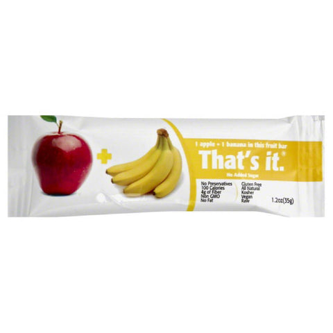 Thats It Apple + Banana Fruit Bar, 1.2 Oz (Pack of 12)