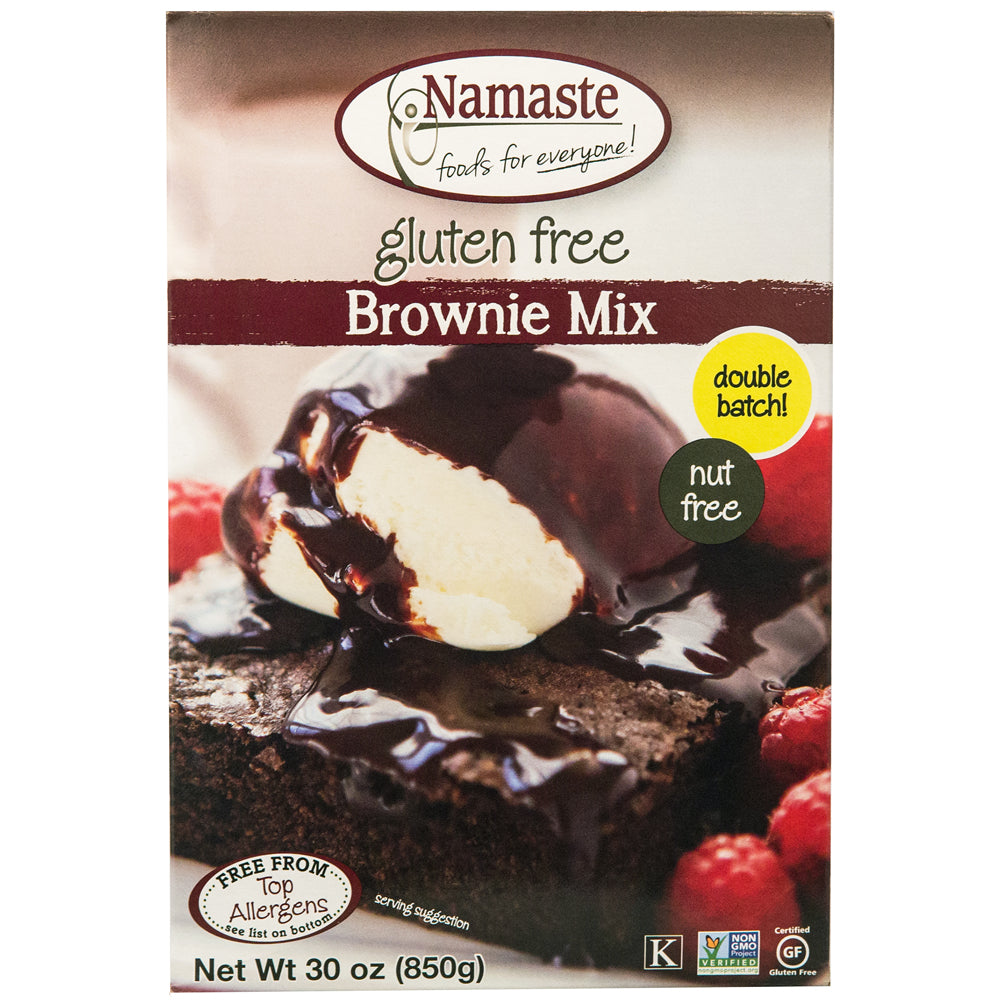 Namaste Foods Gluten Free Brownie Mix, 30 OZ (Pack of 6)