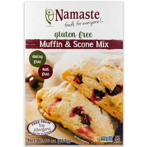 Namaste Foods Gluten Free Muffin & Scone Mix, 16 OZ (Pack of 6)
