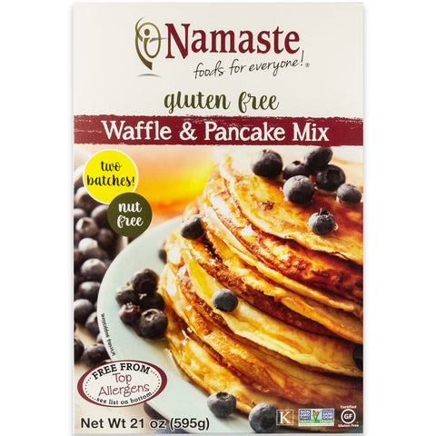 Namaste Foods Gluten Free Waffle & Pancake Mix, 21 OZ (Pack of 6)