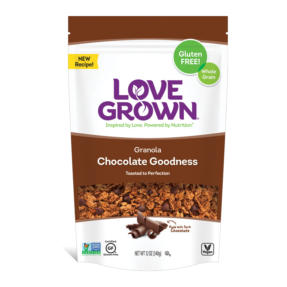 Love Grown Chocolate Goodness Granola, 12 Oz (Pack of 6)