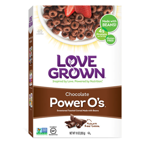 Love Grown Chocolate Power O's, 8 Oz (Pack of 6)
