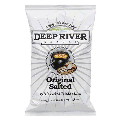Deep River Salted Kettle Chips, 5 OZ (Pack of 12)