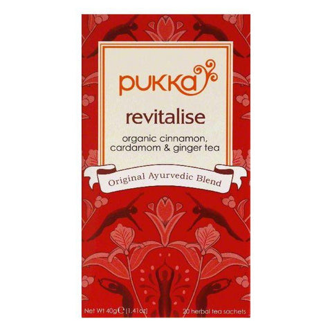 Pukka Sachets Revitalise Herbal Tea, 20 ea (Pack of 6)