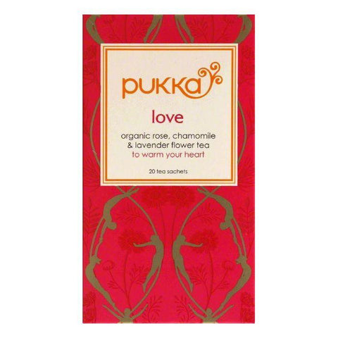 Pukka Sachets Love Tea, 20 ea (Pack of 6)