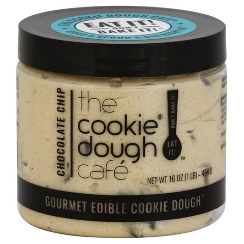Cookie Dough Cafe Chocolate Chip Gourmet Edible Cookie Dough, 16 Oz (Pack of 8)