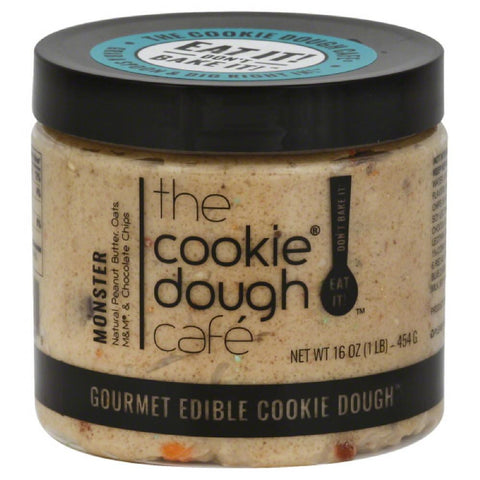 Cookie Dough Cafe Monster Gourmet Edible Cookie Dough, 16 Oz (Pack of 8)