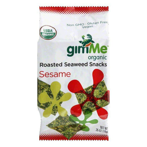 Gimme Sesame Roasted Seaweed Snacks, 0.35 Oz (Pack of 12)