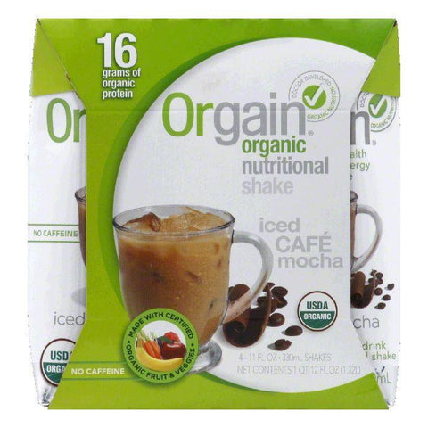 Orgain Iced Cafe Mocha Organic Nutritional Shake, 44 FO (Pack of 3)