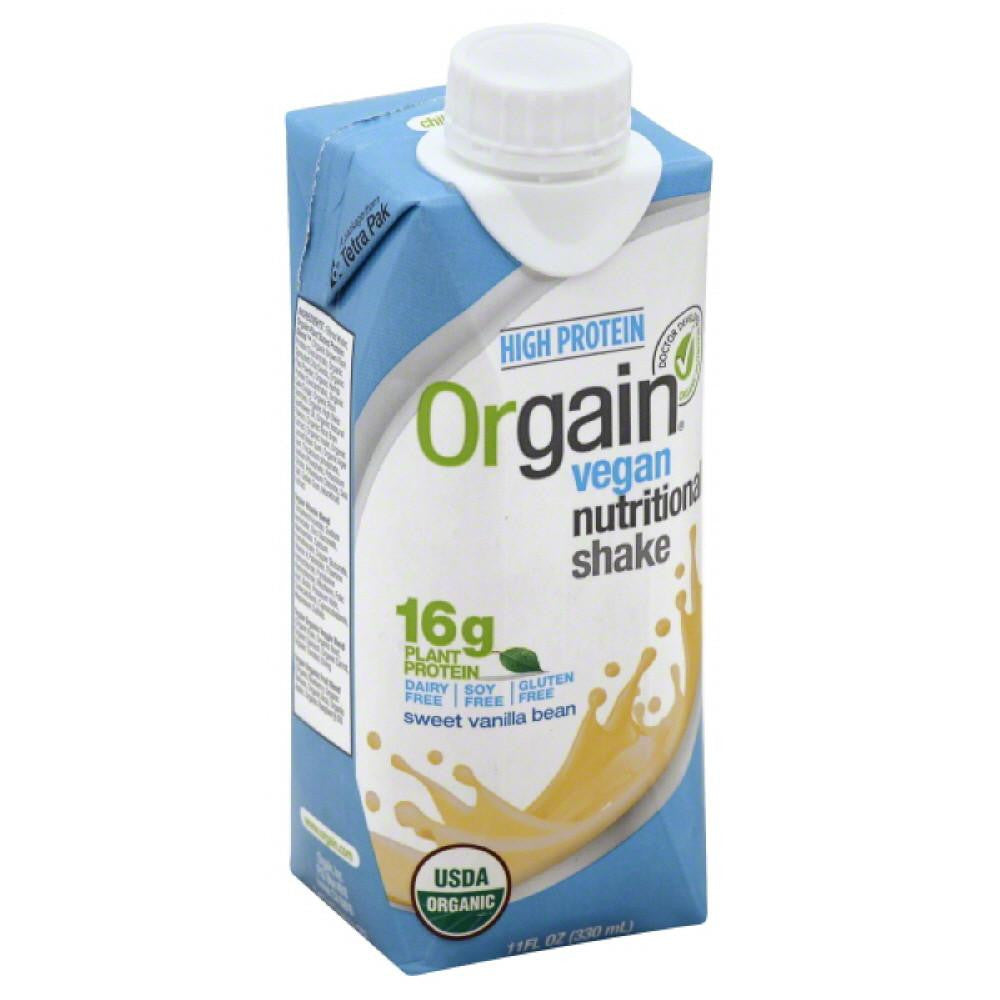 Orgain Sweet Vanilla Bean Vegan Nutritional Shake, 11 Oz (Pack of 12)