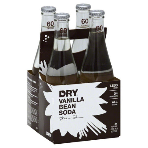 Dry Vanilla Bean Soda, 12 Fo (Pack of 6)