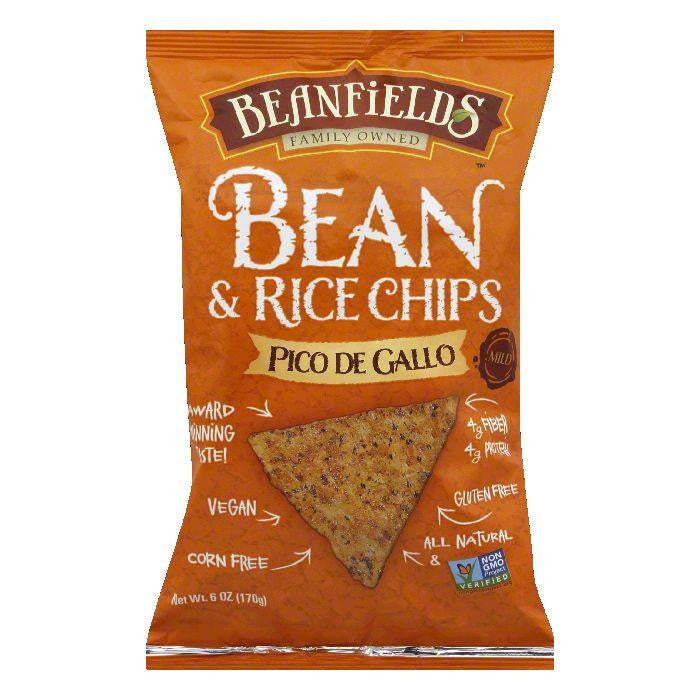 Beanfields Mild Pico De Gallo Bean and Rice Chips, 6 Oz (Pack of 6)
