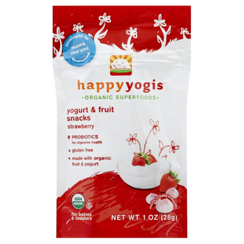 Happy Yogis Babies & Toddlers Strawberry Yogurt & Fruit Snacks, 1 Oz (Pack of 8)