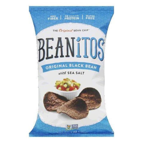Beanitos Sea Salt Black Bean Chips, 6 OZ (Pack of 6)