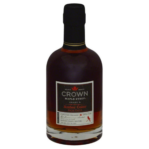 Crown Maple Amber Color Maple Syrup, 12 Fo (Pack of 6)