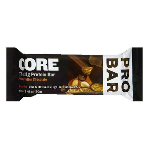 Probar Peanut Butter Chocolate Protein Bar, 2.46 Oz (Pack of 12)