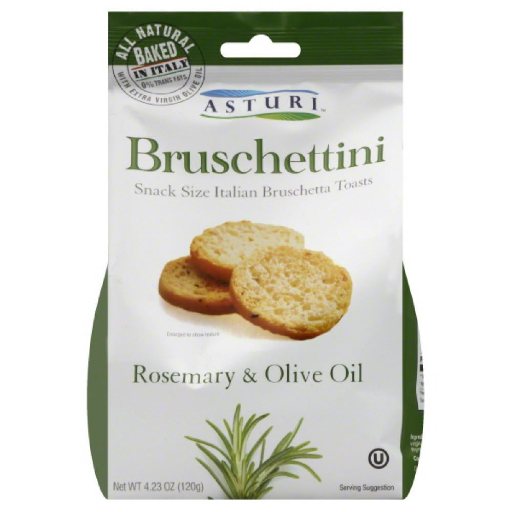 Asturi Rosemary & Olive Oil Bruschettini, 4.23 Oz (Pack of 12)