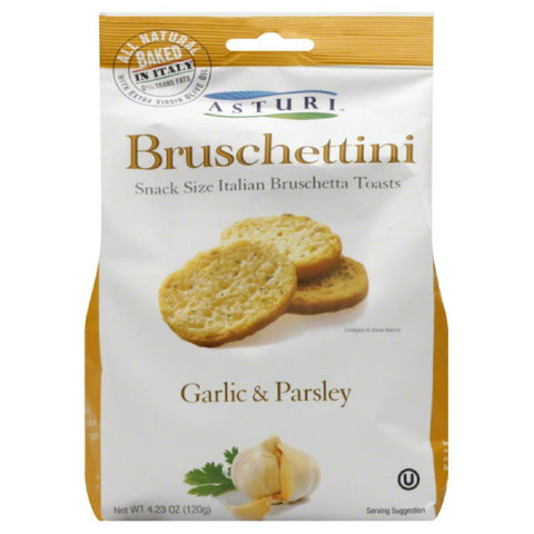 Asturi Garlic & Parsley Bruschettini, 4.23 Oz (Pack of 12)