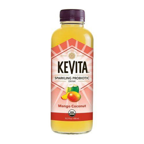 Kevita Mango Coconut Sparkling Probiotic Ready to Drink, 15.2 Oz (Pack of 6)