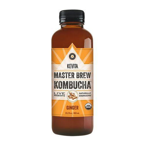 Kevita Master Brew Kombucha Ginger, 15.2 Oz (Pack of 6)