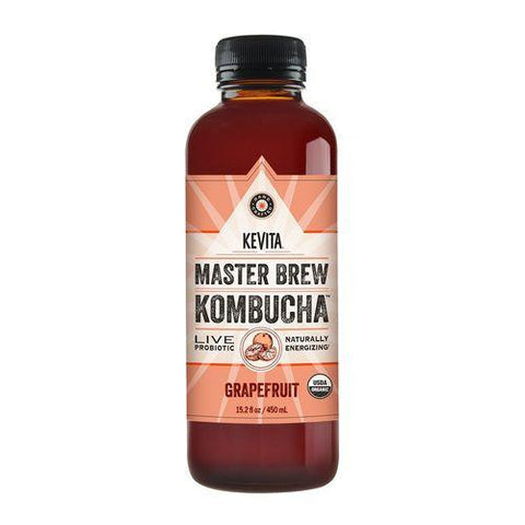 Kevita Master Brew Kombucha Grapefruit, 15.2 Oz (Pack of 6)