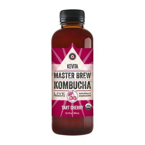 Kevita Master Brew Kombucha Tart Cherry, 15.2 Oz (Pack of 6)