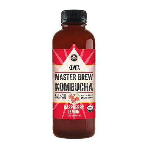 Kevita Master Brew Kombucha Raspberry Lemon, 15.2 Oz (Pack of 6)