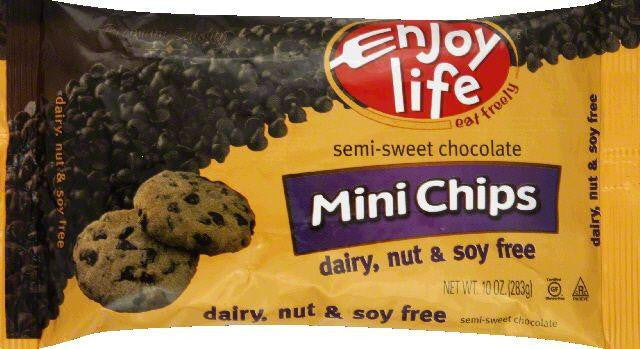 Enjoy Life Gluten Free Semi-Sweet Chocolate Chips, 10 OZ (Pack of 12)