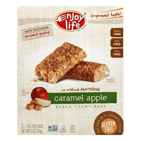 Enjoy Life Gluten Free Caramel Apple Snack Bar, 5 OZ (Pack of 6)