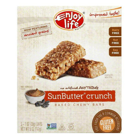 Enjoy Life Sunbutter Crunch Snack Bar, 5 OZ (Pack of 6)
