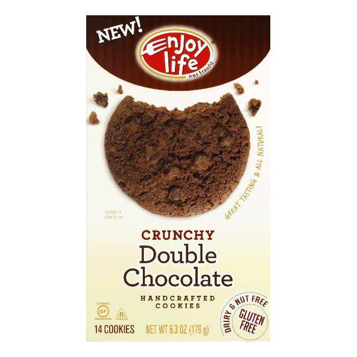 Enjoy Life Crunchy Double Chocolate Chip Cookie, 6.3 OZ (Pack of 6)