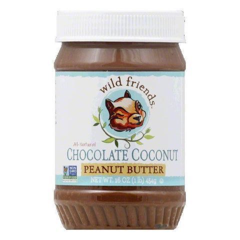 Wild Friends Chocolate Coconut Peanut Butter, 16 Oz (Pack of 6)