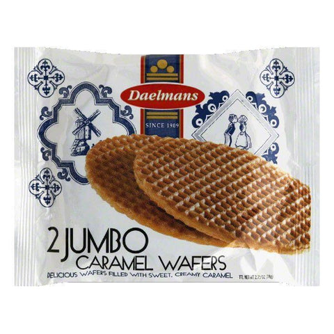 Daelman's Jumbo Caramel Wafer 2pk, 2.75 OZ (Pack of 12)