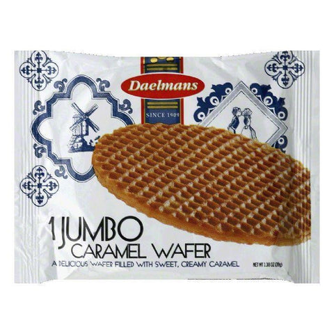 Daelman's Single Serve Jumbo Caramel Wafer, 1.38 OZ (Pack of 24)