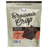 Lucys Triple Chocolate Brownie Crisp, 4.5 Oz (Pack of 8)