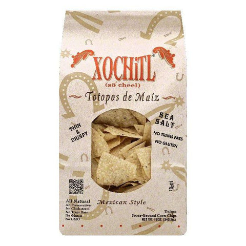 Xochitl Sea Salt Corn Chips, 12 OZ (Pack of 10)