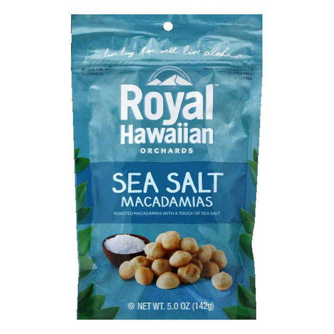 Royal Hawaiian Orchards Sea Salt Macadamia Nut, 5 OZ (Pack of 6)